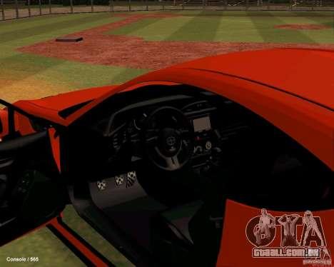 Scion FR13 para GTA San Andreas vista traseira