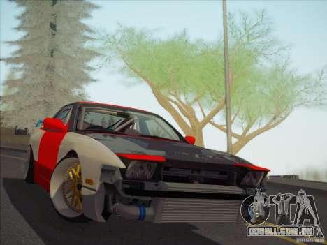 Nissan RPS13 Drift Korch para GTA San Andreas vista traseira
