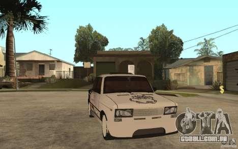 VAZ 2106 duro sintonizado para GTA San Andreas vista traseira