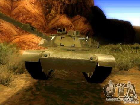 M1A2 Abrams de Battlefield 3 para GTA San Andreas esquerda vista