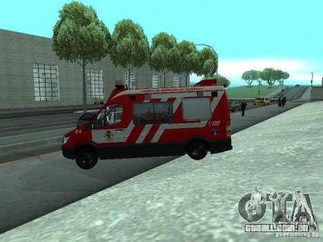 Mercedes-Benz Sprinter R-4 para GTA San Andreas esquerda vista