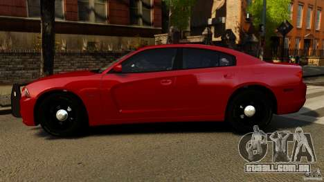 Dodge Charger RT Max FBI 2011 [ELS] para GTA 4 esquerda vista