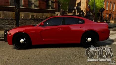 Dodge Charger RT Max FBI 2011 [ELS] para GTA 4 esquerda vista