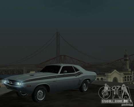 Dodge Chellenger V2.0 para GTA San Andreas esquerda vista
