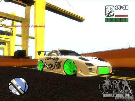 Mazda RX-7 Drift Version para GTA San Andreas traseira esquerda vista