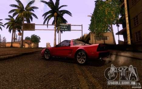 Acura NSX Targa para GTA San Andreas traseira esquerda vista