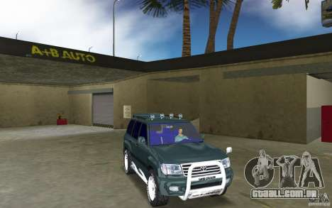 Toyota Land Cruiser 100 para GTA Vice City vista traseira