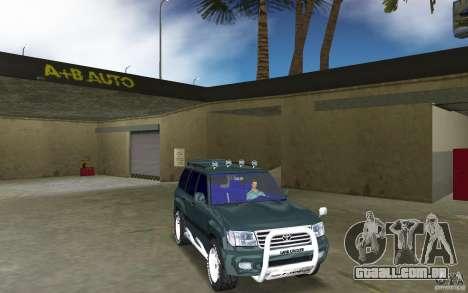 Toyota Land Cruiser 100 para GTA Vice City vista traseira