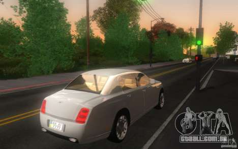 Bentley Continental Flying Spur para GTA San Andreas traseira esquerda vista