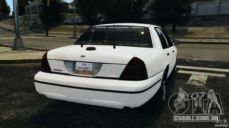 Ford Crown Victoria Police Unit [ELS] para GTA 4 traseira esquerda vista