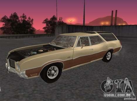 Oldsmobile Vista Cruiser 1972 para GTA San Andreas vista traseira