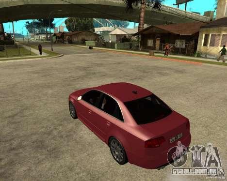 Audi S4 tunable para GTA San Andreas