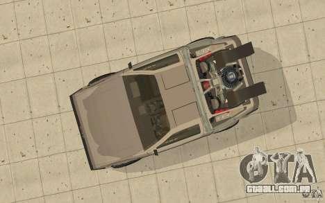 DeLorean DMC-12 (BTTF1) para GTA San Andreas vista direita