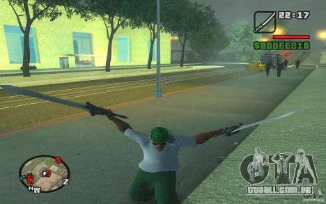 Espada de Dante do DMC 3 para GTA San Andreas segunda tela