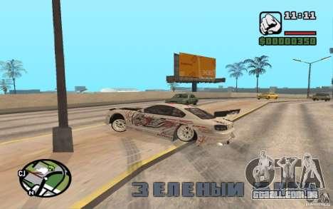 Nissan 150SX para GTA San Andreas vista traseira