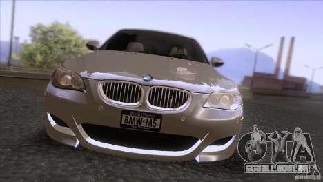 BMW M5 2009 para GTA San Andreas vista superior
