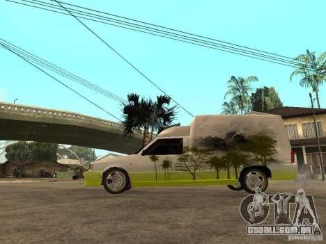 Fiat Fiorino para GTA San Andreas esquerda vista