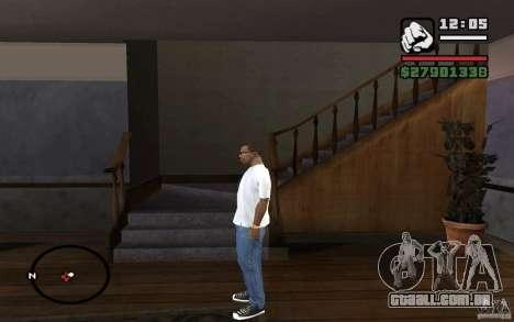 Calça jeans skinny para GTA San Andreas segunda tela