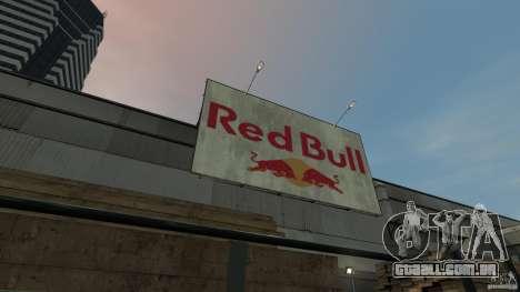 Red Bull Factory para GTA 4 por diante tela