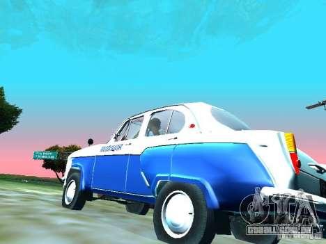 Moskvitch 403 com polícia para GTA San Andreas vista traseira