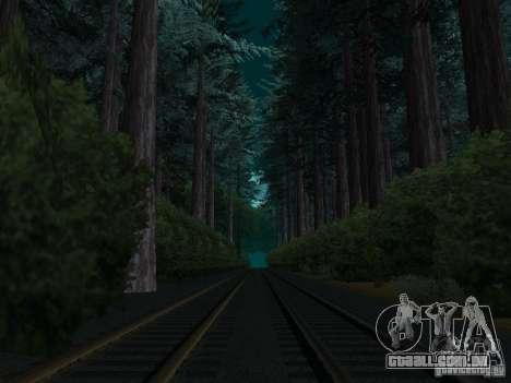 Floresta em Las Venturas para GTA San Andreas por diante tela