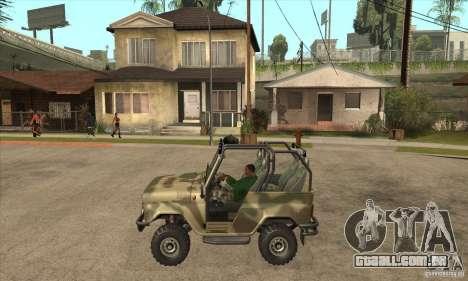 Verme UAZ-3150 para GTA San Andreas esquerda vista
