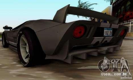 Ford GT Tuning para GTA San Andreas traseira esquerda vista