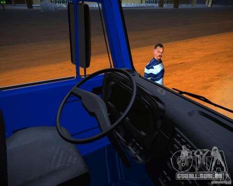 KAMAZ grão 65117 para GTA San Andreas vista traseira