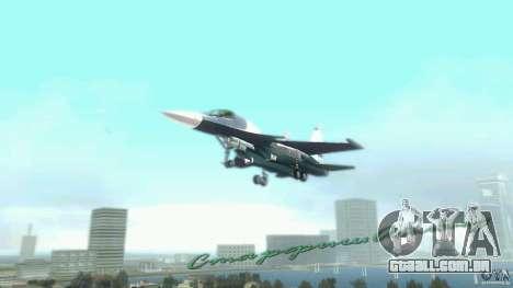 Vice City Air Force para GTA Vice City vista traseira esquerda