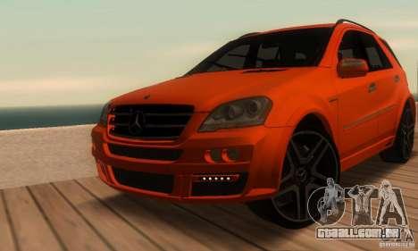 Mercedes-Benz ML63 AMG Brabus para vista lateral GTA San Andreas