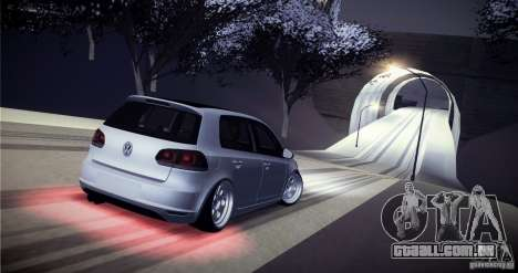 Volkswagen Golf VI 2010 Stance Nation para GTA San Andreas vista inferior