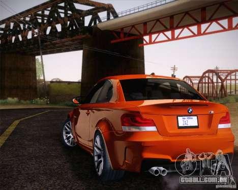 BMW 1M v2 para GTA San Andreas esquerda vista