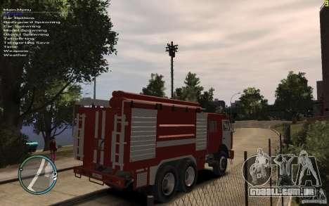 Kamaz bombeiro para GTA 4 traseira esquerda vista