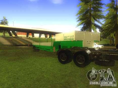 TCM trailer-993910 para GTA San Andreas vista direita