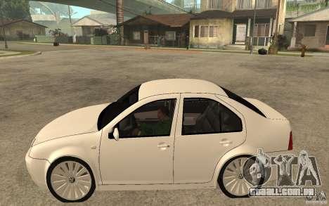 Volkswagen Bora PepeUz Edition para GTA San Andreas esquerda vista