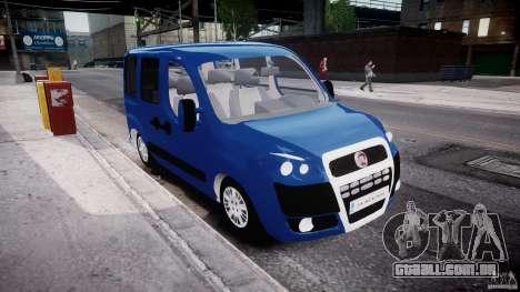 Fiat Doblo 1.9 2009 para GTA 4 vista direita
