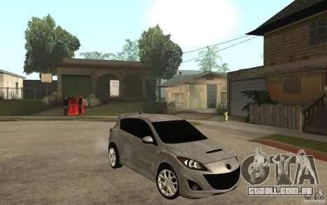 Mazda 3 Mazdaspeed 2010 para GTA San Andreas vista traseira
