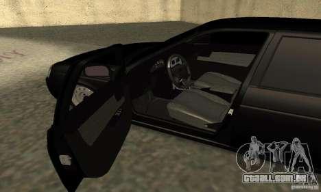 Lada 2170 Priora Pnevmo para GTA San Andreas vista traseira