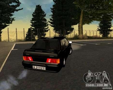 TJK VAZ 2115 para GTA San Andreas traseira esquerda vista
