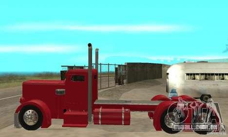 Peterbilt Coupe para GTA San Andreas traseira esquerda vista