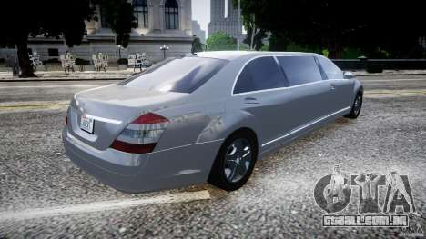 Mercedes-Benz S600 Guard Pullman 2008 para GTA 4 esquerda vista