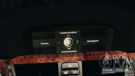 BMW 330i E92 para GTA 4 vista inferior