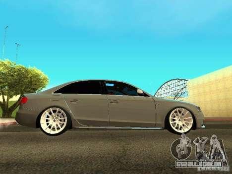 Audi S4 2010 para GTA San Andreas esquerda vista