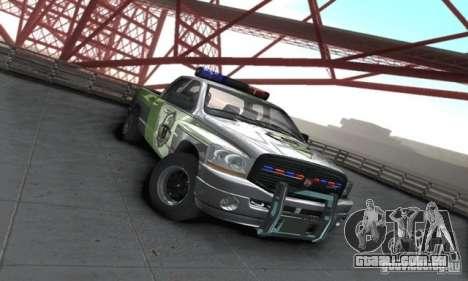 Dodge Ram 1500 POLICE 2008 para GTA San Andreas traseira esquerda vista