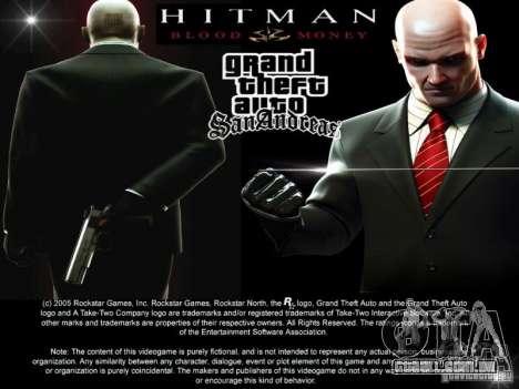 Tela de inicialização de HITMAN-estilo para GTA San Andreas