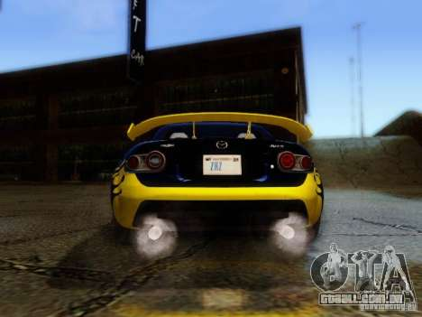 Mazda MX-5 2007 para GTA San Andreas vista interior