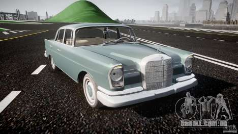 Mercedes-Benz W111 v1.0 para GTA 4 vista interior