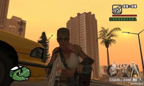 A nova garota militar para GTA San Andreas