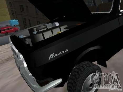 GAZ-24 VOLGA 95 para GTA San Andreas vista interior