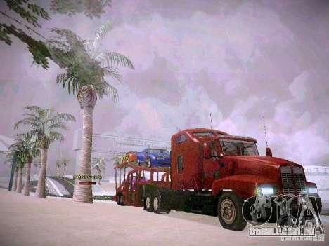 Auto transporte reboque para GTA San Andreas vista traseira